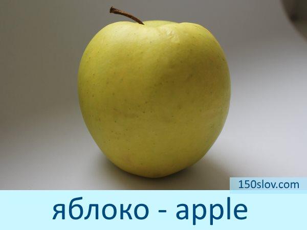Карточка яблоко на английском языке